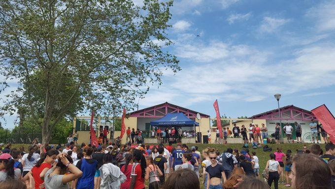 Opération « Raid Rhône Nature Collège » sur les plages du Bordelan, Villefranche